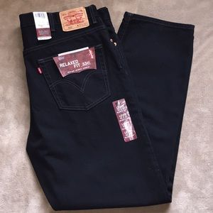 Nw Levi's Sz Men's 42x32 blk Relaxed Fit Jeans